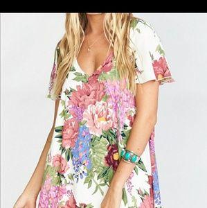 Show me your mumu floral mini dress
